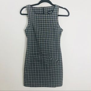 Bisou bisou plaid dress nwnt size4 women